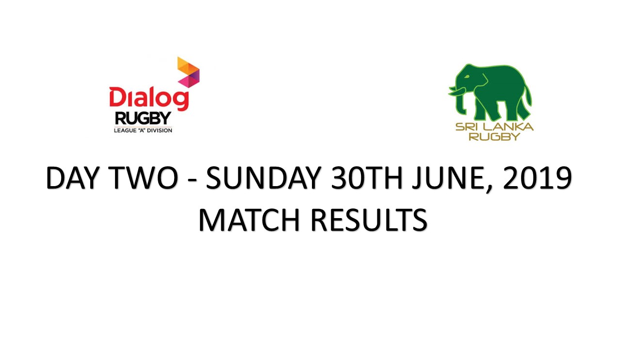 The Dialog Inter Club Rugby 7's 2019-Day 2-Match Results